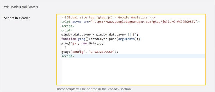 جایگذاری کدهای اسکریپت در گوگل آنالیتیکس